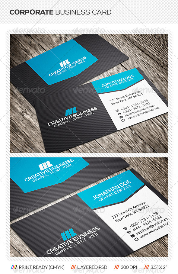 GraphicRiver Creative Corporate Business Card 6206580