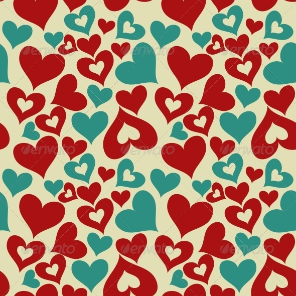 GraphicRiver Valentine Seamless Hearts Pattern 6206698