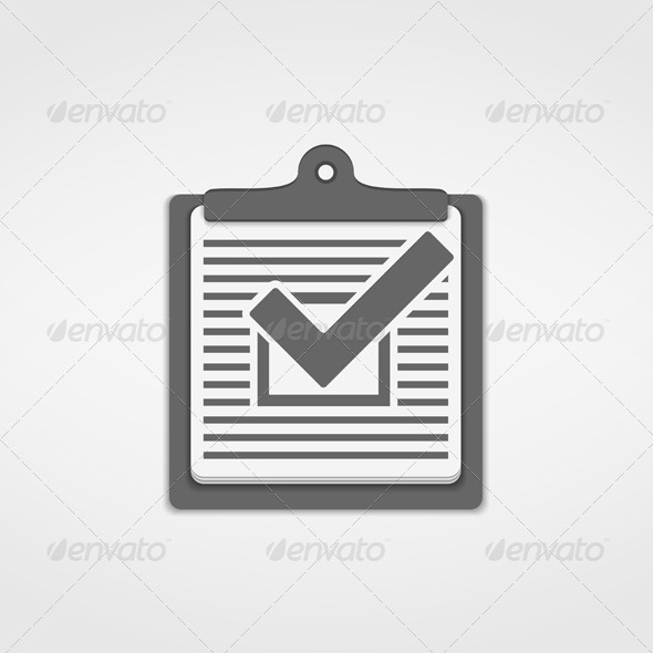 GraphicRiver Check List Icon 6206734