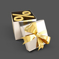 open Gift Box with percent sign inside - PhotoDune Item for Sale