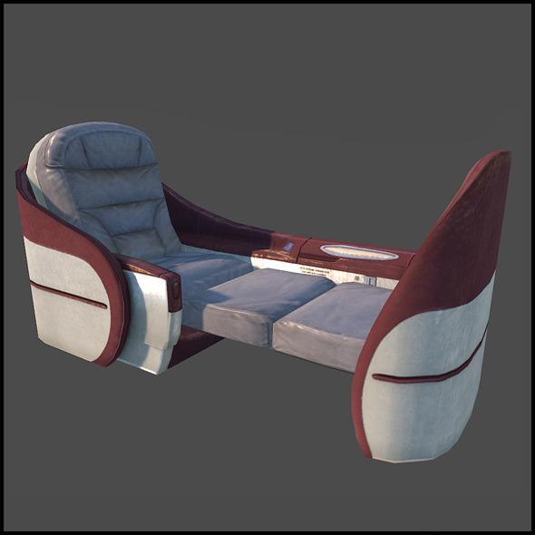 3DOcean First Class Seats 6207897