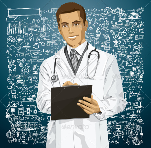 GraphicRiver Doctor Man with Clipboard 6208473