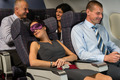 Business woman sleep during flight airplane cabin - PhotoDune Item for Sale