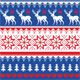 Nordic Seamless Pattern with Deer and Christmas  - GraphicRiver Item for Sale