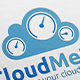 Cloud Meter Monitor Logo - GraphicRiver Item for Sale
