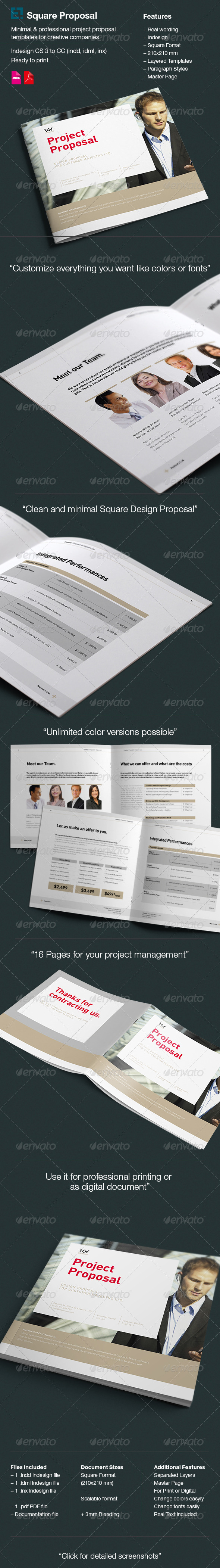 GraphicRiver Square Proposal Template 6210199
