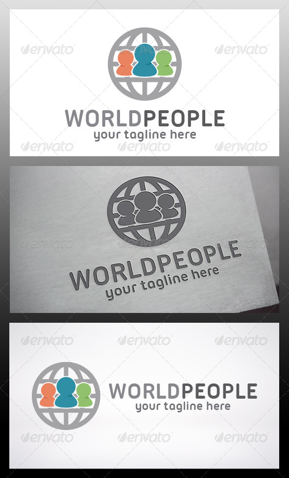 GraphicRiver World People Logo 6210630