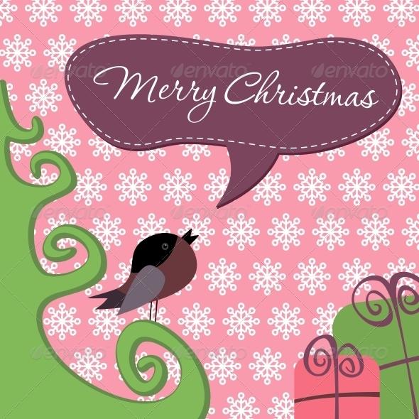 GraphicRiver Postcard Merry Christmas 6210635