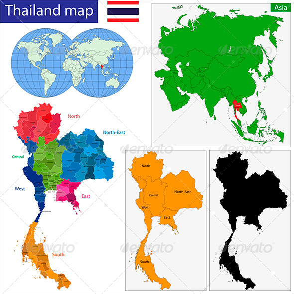 GraphicRiver Thailand Map 6210659