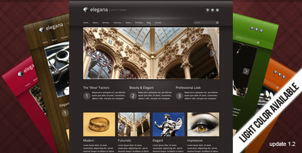 Elegana -  Clean and Elegant Website Template - Creative Site Templates