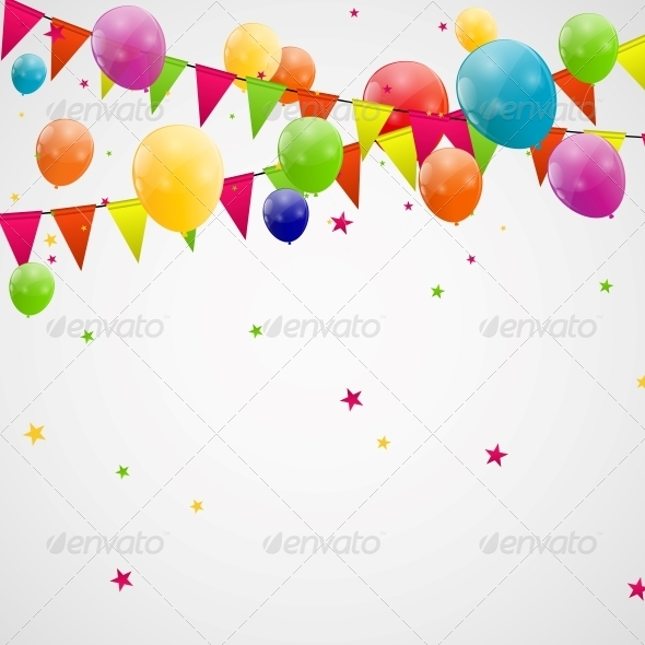 GraphicRiver Color Glossy Balloons Background 6210938