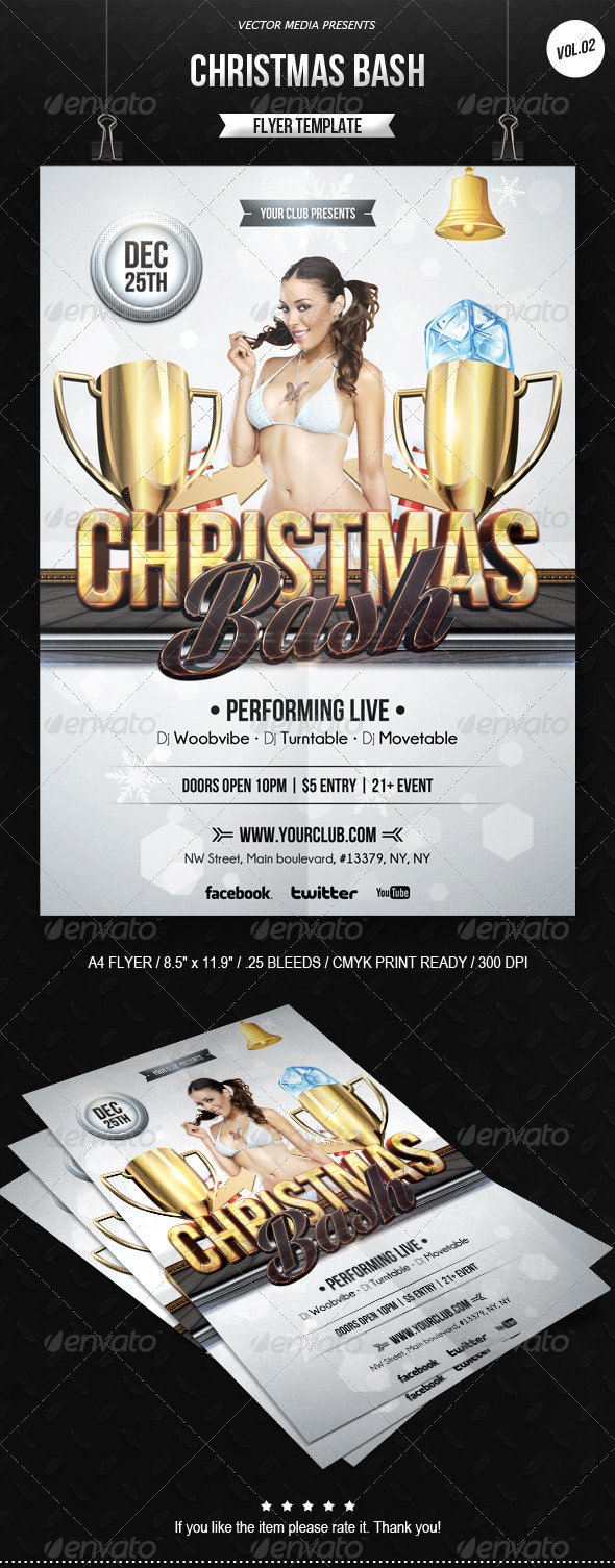 GraphicRiver Christmas Bash Flyer [Vol.2] 6210960
