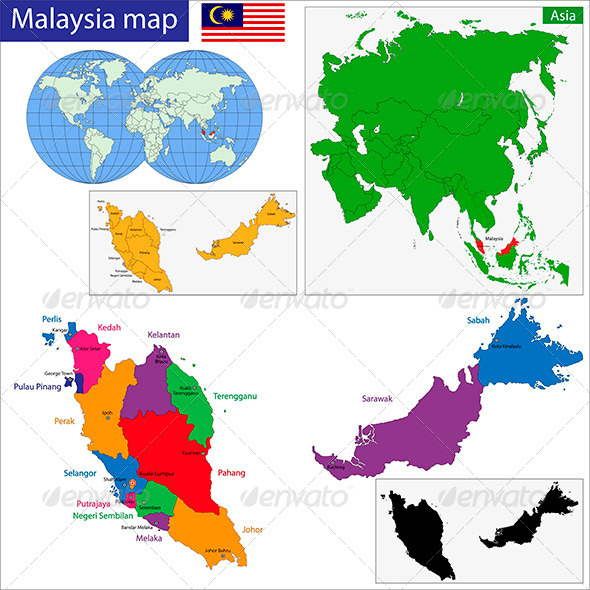 GraphicRiver Malaysia Map 6211017