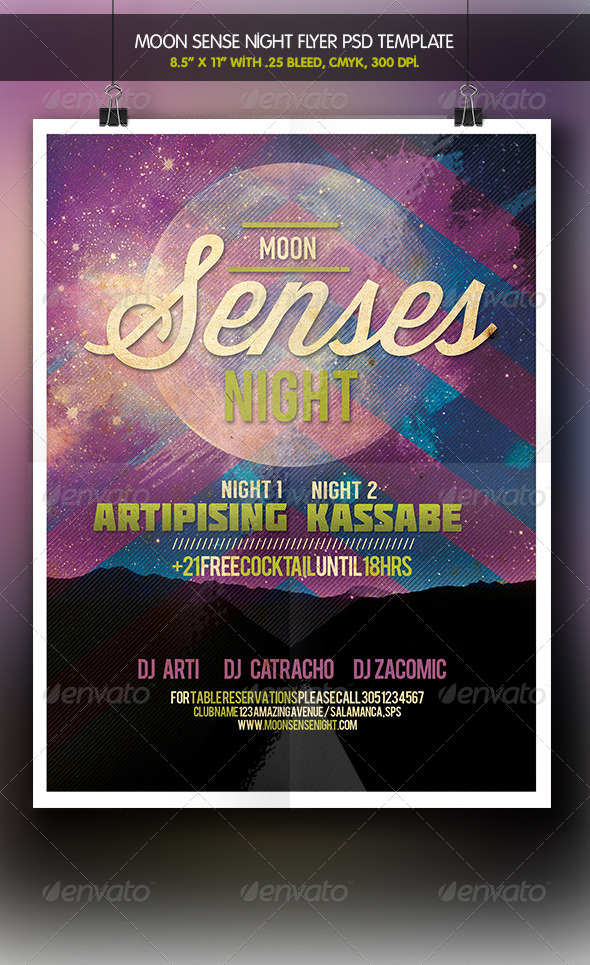GraphicRiver Moon Senses Party Night Flyer 6211074