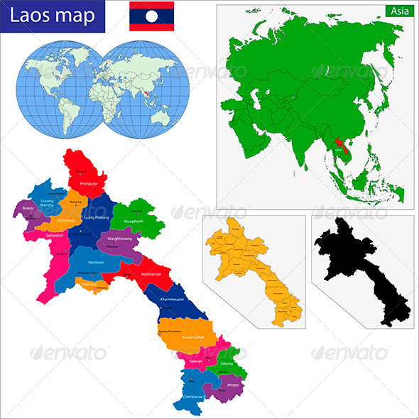 GraphicRiver Laos Map 6211080