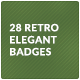 28 Retro Elegant Badges - GraphicRiver Item for Sale