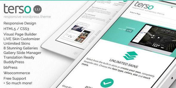 Terso - Responsive BuddyPress + bbPress Theme - Corporate WordPress