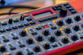 Closeup photo of an audio mixer - PhotoDune Item for Sale