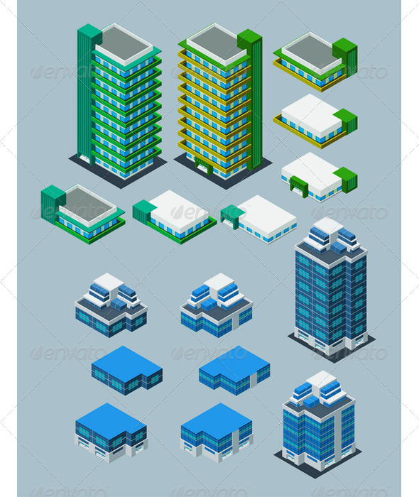 GraphicRiver Isometric Building 6211501