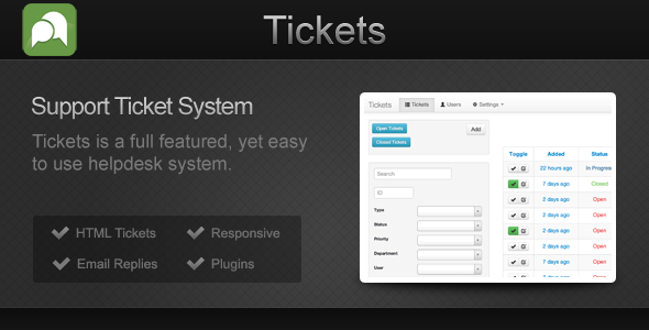 Tickets - CodeCanyon Item for Sale