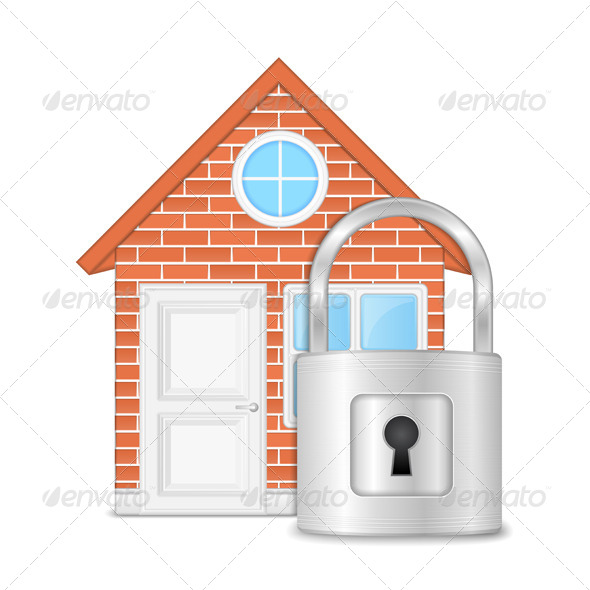GraphicRiver House with Lock 6211985