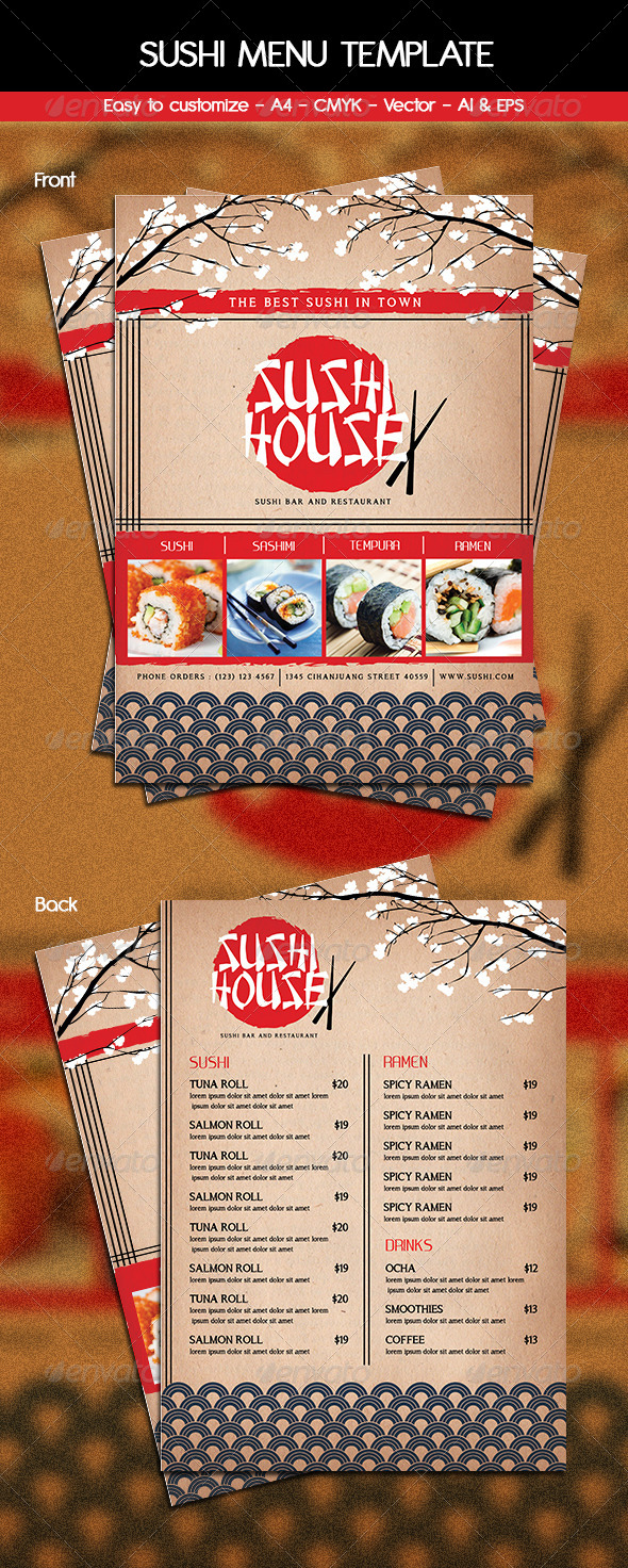 GraphicRiver Sushi Menu Template 6212682