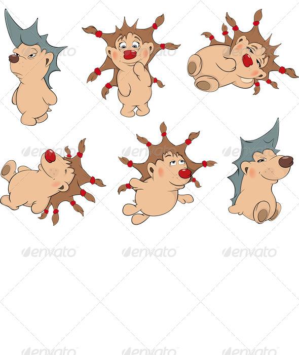 GraphicRiver Small Hedgehogs Clip Art 6212683