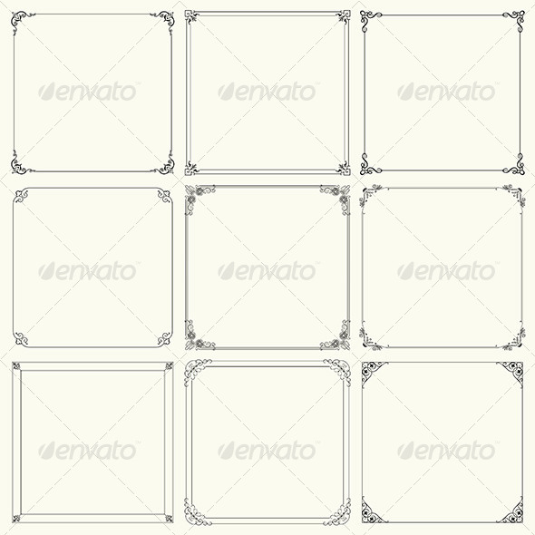 GraphicRiver Decorative Frames 6212688