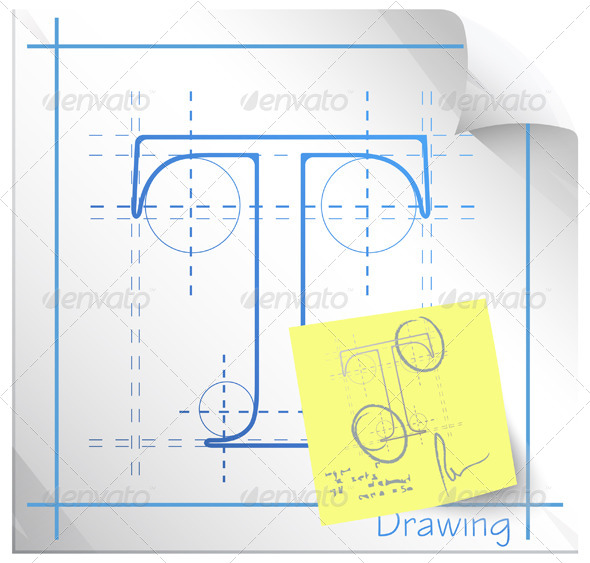 GraphicRiver Technical Drawing Fonts with Revision Note 6212915