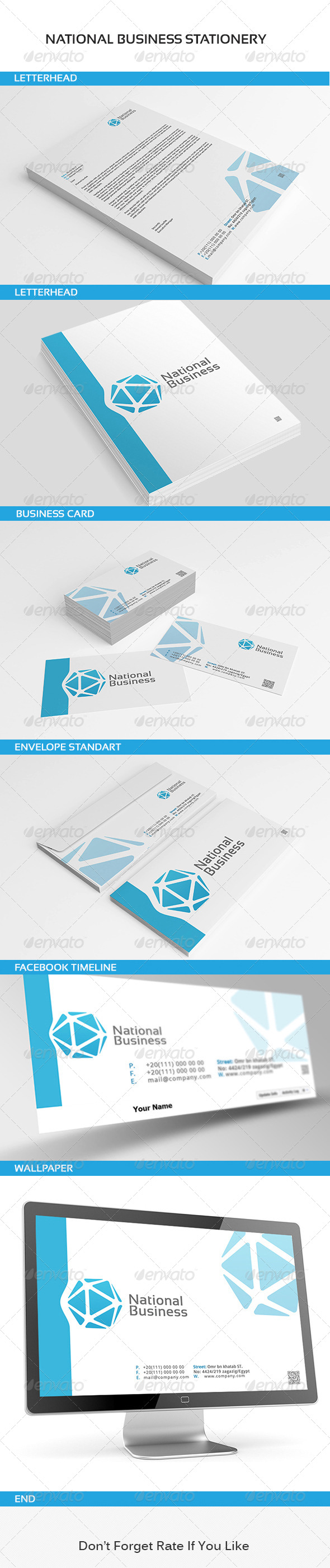 GraphicRiver National Business Stationery 6177844