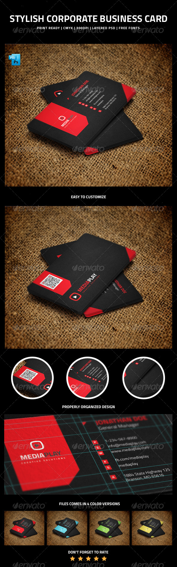GraphicRiver Stylish Corporate Business Card 6213693