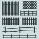 Vector Set of Rural Fences Silhouettes  - GraphicRiver Item for Sale