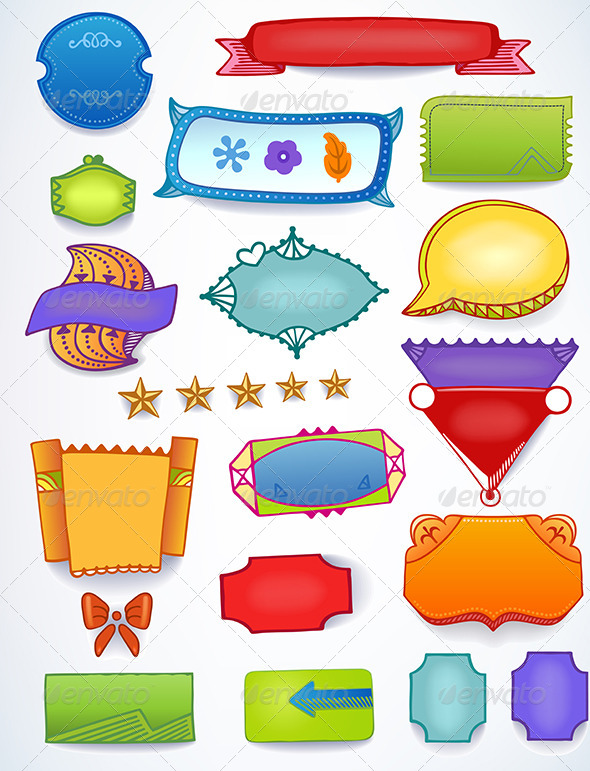 GraphicRiver Sales Blank Promotion Set of Space Text Labels 6214490