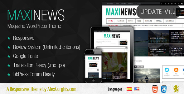 MaxiNews - Premium Review Magazine Theme - News / Editorial Blog / Magazine