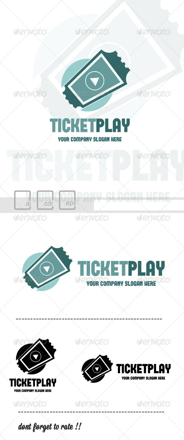 GraphicRiver Ticket Play Logo 6215480