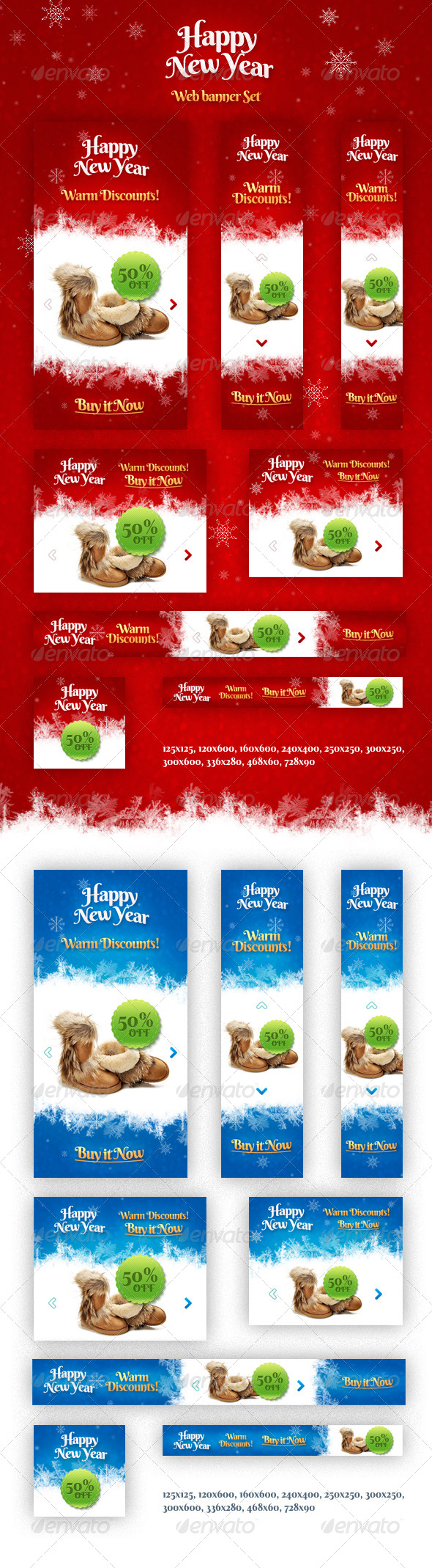 GraphicRiver Holiday Banner Set 6217532
