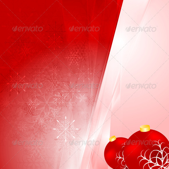 GraphicRiver Abstract Vector Shiny Christmas Background 6218132