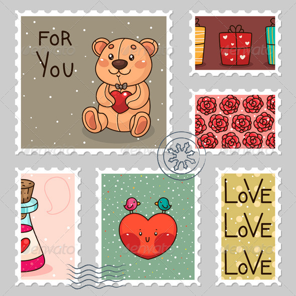 GraphicRiver Romantic Stamps 6218144