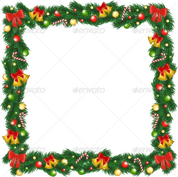 GraphicRiver Christmas Garland Frame 6218709