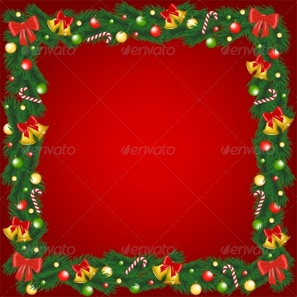 GraphicRiver Christmas Garland Frame 6218759
