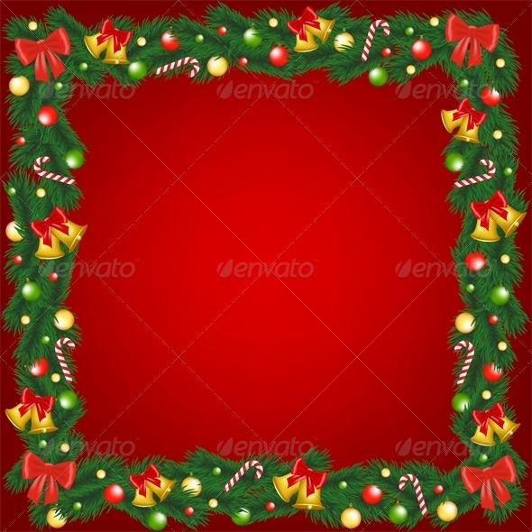 GraphicRiver Christmas Garland Frame 6218759
