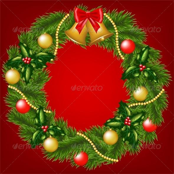 GraphicRiver Christmas Wreath 6218916