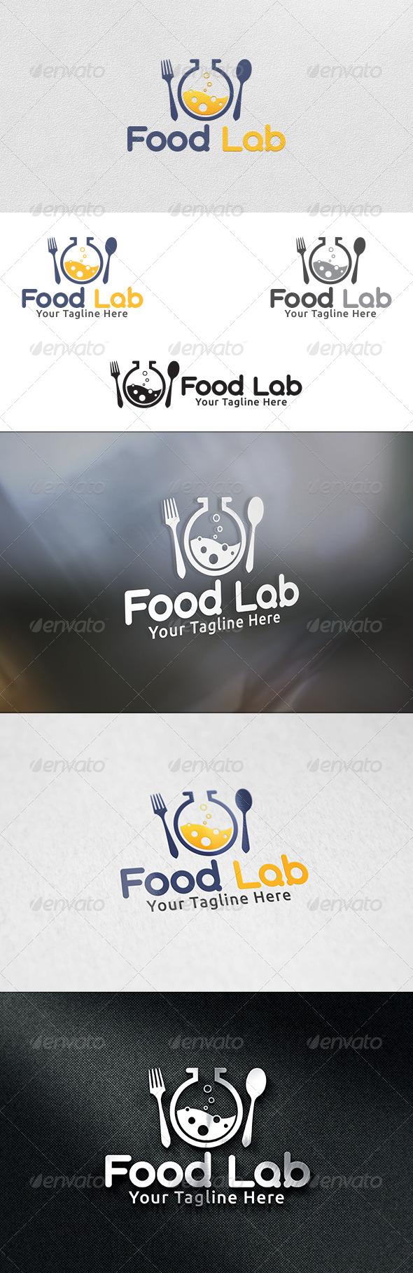 GraphicRiver Food Lab Logo Template 6219362