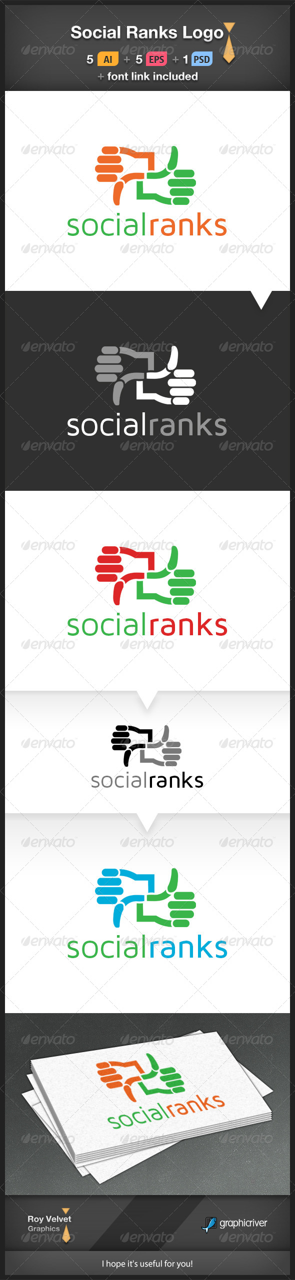 GraphicRiver Social Ranks Logo 6219399