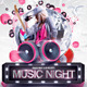 Music Night Party Flyer Template V1 - GraphicRiver Item for Sale
