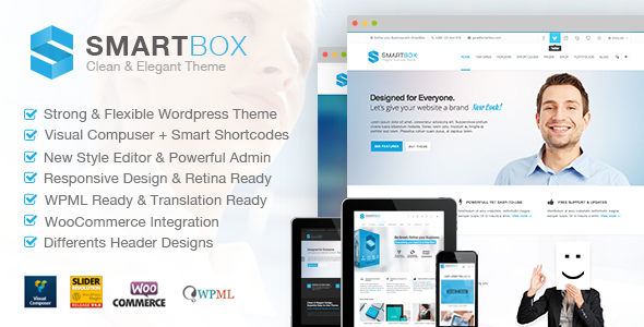 SMARTBOX - Clean & Elegant Multi-Purpose WP Theme