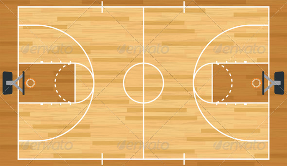 GraphicRiver Realistic Vector Basketball Court 6221235