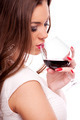 Young woman drinking red wine - PhotoDune Item for Sale
