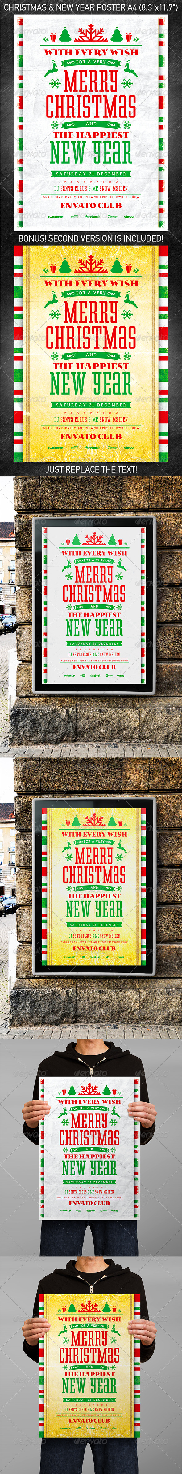 GraphicRiver Christmas & New Year poster vol.2 6221529