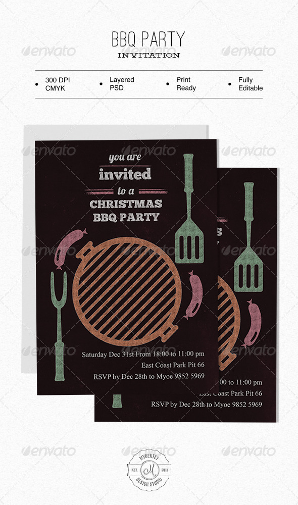GraphicRiver BBQ Party Invitation 6221623